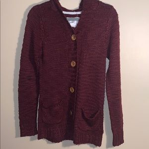 Element size medium red knitted sweater/cardigan